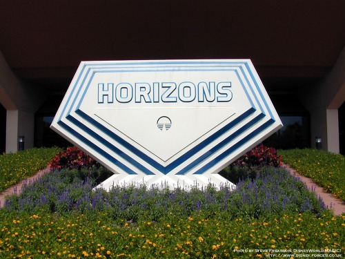 The sign that for so many years welcomed guests to take a look over our Horizons. (Picture courtesy of WDWMagic.com)