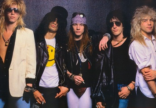 Duff, Slash, Axl, Izzy and the uncleverly-monikered Steve