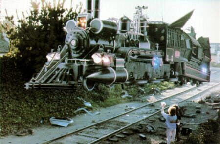 Doc Brown's time traveling steam train