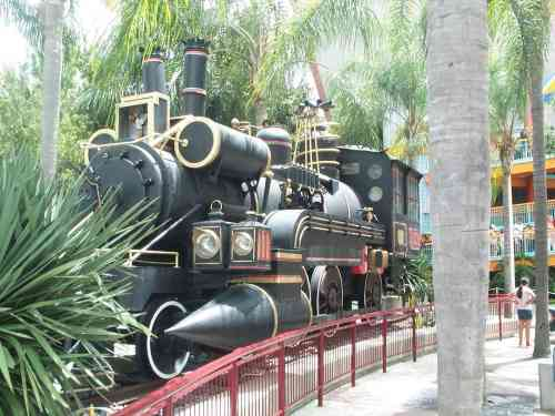 The Jules Verne train replica at the Back to the Future: The Ride attraction in Universal Studios, Orlando.